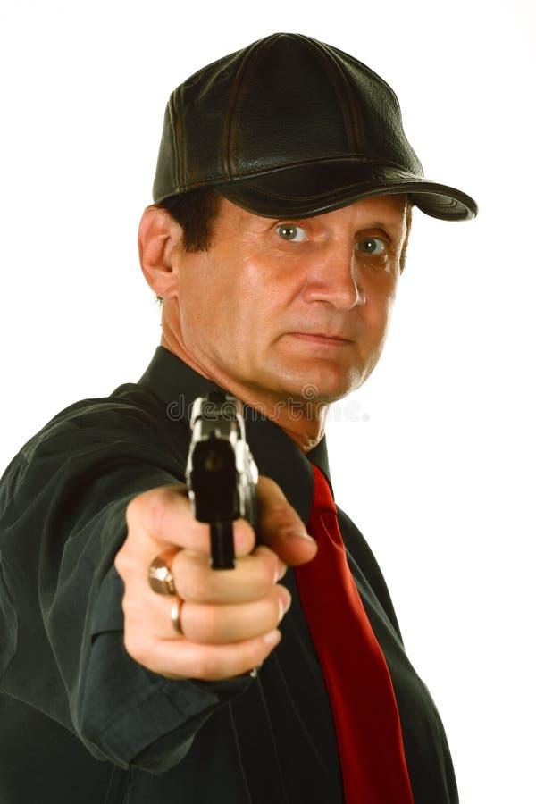 Männer mit Gewehr stockbilder