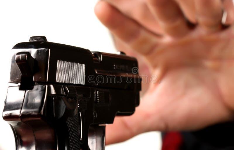 Männer mit Gewehr stockfotografie