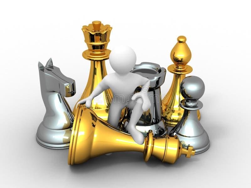 Männer mit Schach stock abbildung