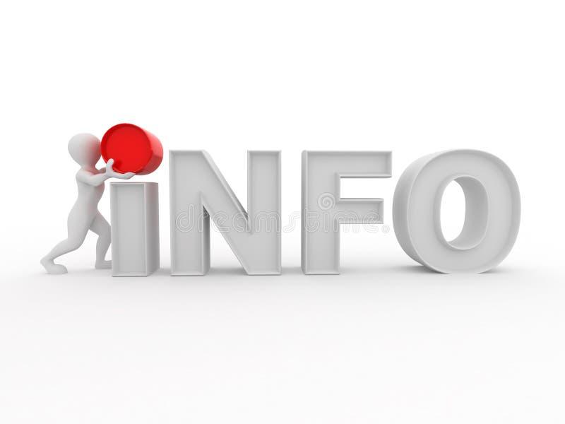 Männer mit Textinfo auf weißem getrenntem Hintergrund lizenzfreie abbildung