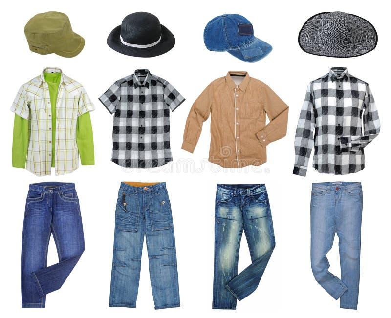 Männer ` s kleidet Sammlung lizenzfreie stockfotografie