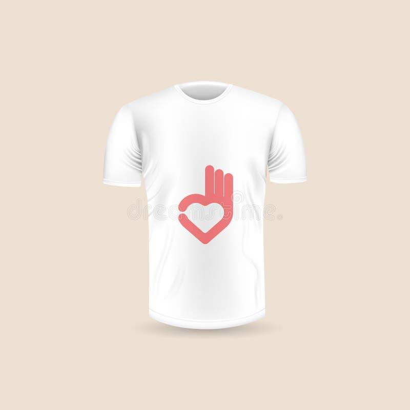 Männer ` s T-Shirt Ikone auf Hintergrund Rundhalsausschnitt-Jersey-Hintergrund Franc stock abbildung
