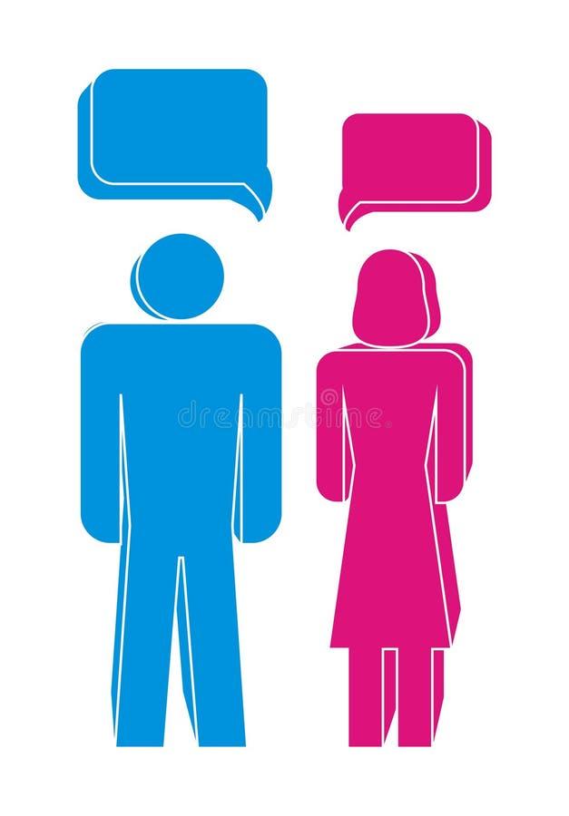 Männer und Frauen stock abbildung