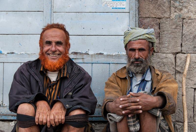 Männer in Yemen lizenzfreie stockbilder