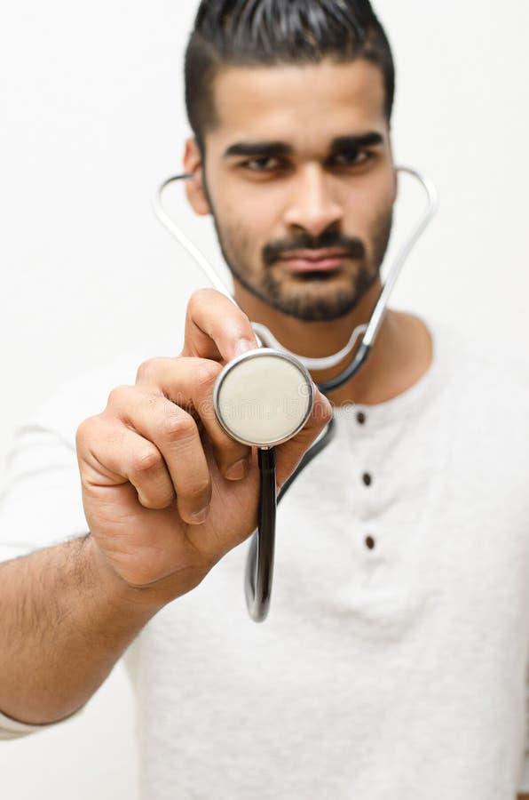 Männerbildnisdoktor stockbild