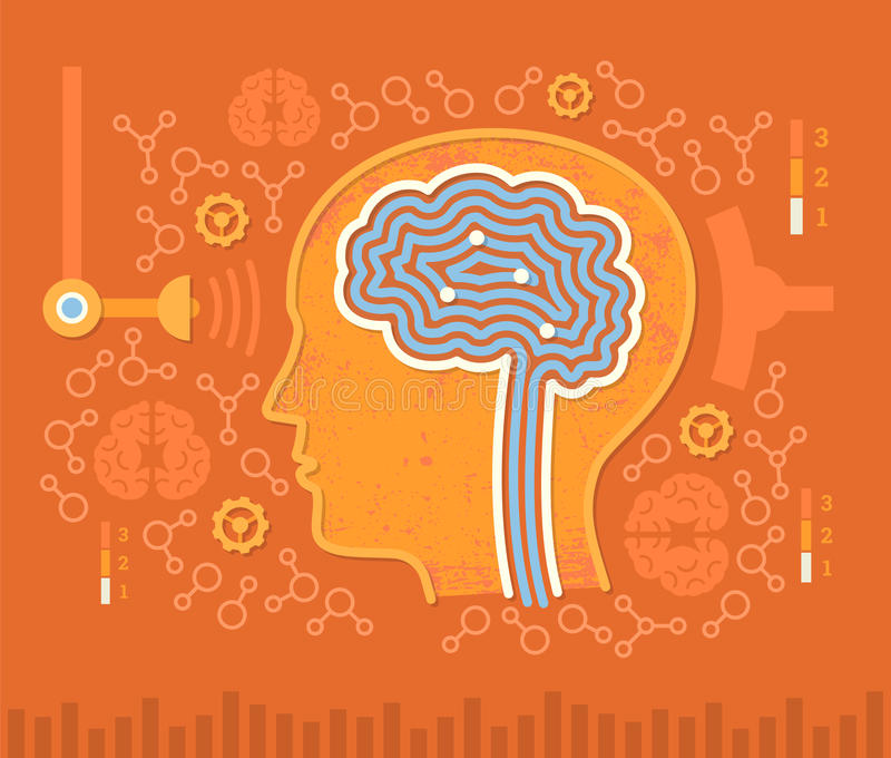 Människa Brain Circuits royaltyfri illustrationer