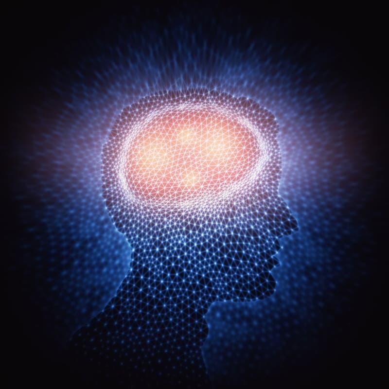 Människa Brain Power Connections arkivbild