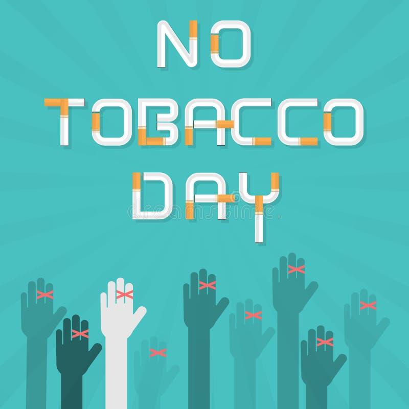 Människahänder och cigarett Avsluta templaen för designen för tobakvektorlogoen royaltyfri illustrationer