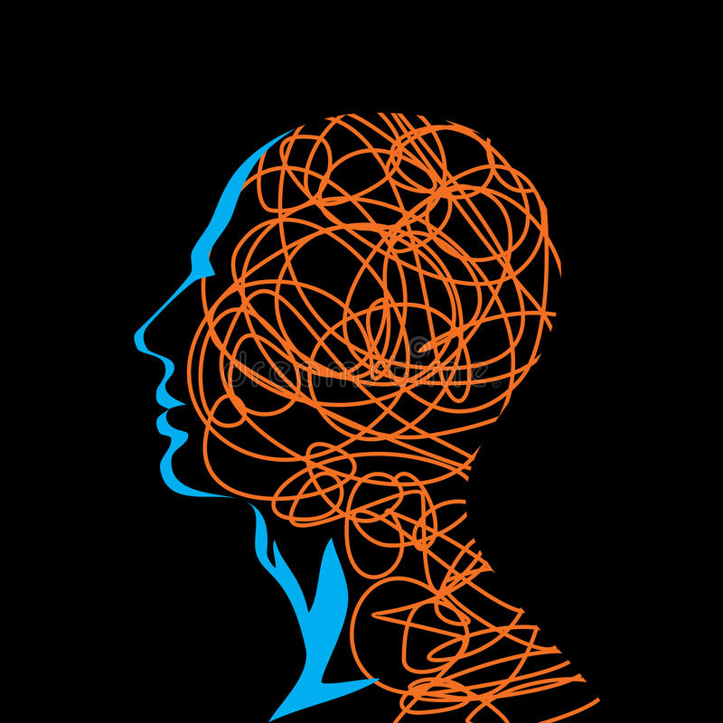 Människahuvud stock illustrationer