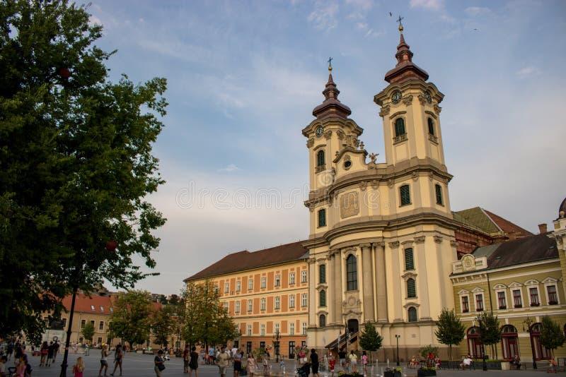 Människor i Eger, Ungern arkivfoton