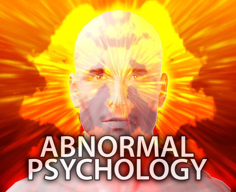 Männliche anormale Psychologie lizenzfreie abbildung
