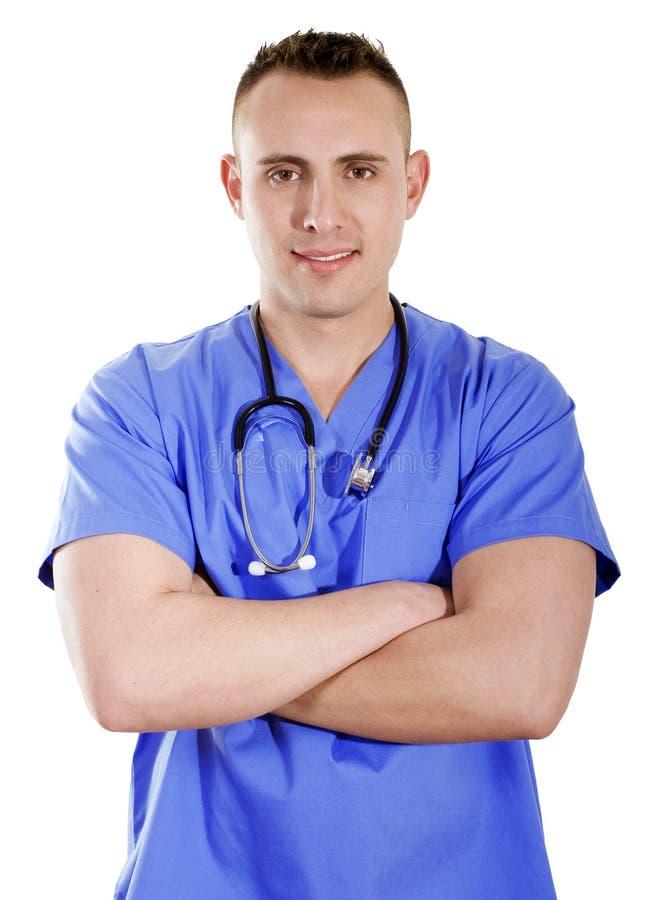 Männliche Gesundheitspflegearbeitskraft lizenzfreie stockfotos