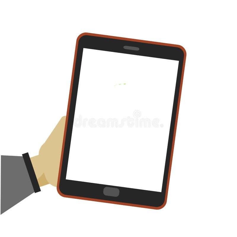 Männliche Hand, die generischen Tabletten-PC hält vektor abbildung