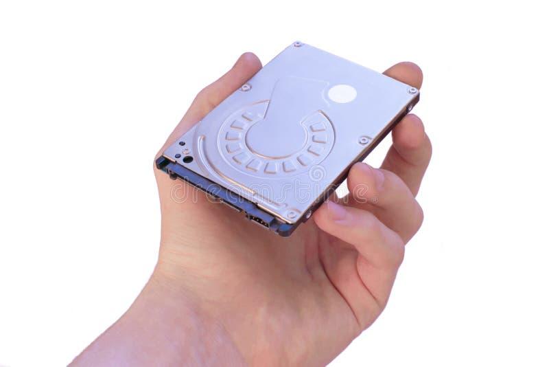 M?nnliche Hand h?lt Festplattenlaufwerk Datentr?ger Datenreihe 2 5 Zoll Festplatte lizenzfreies stockbild