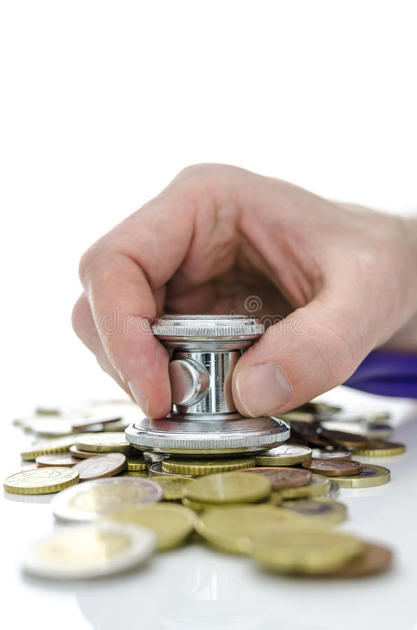 Konzept der Wirtschaftskrisewiederaufnahme lizenzfreies stockbild