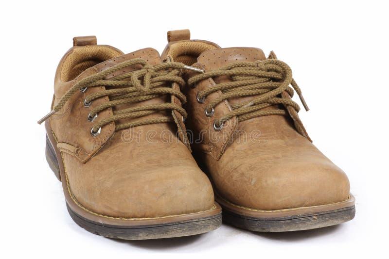 Männliche lederne Schuhe stockfoto
