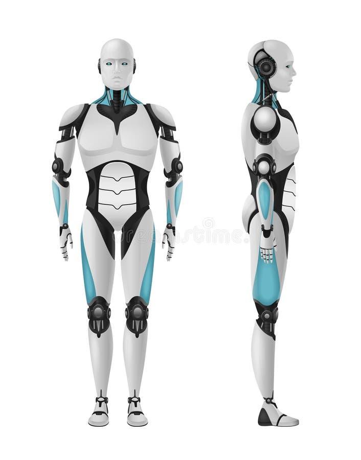 Männliche Roboter-Zusammensetzung vektor abbildung