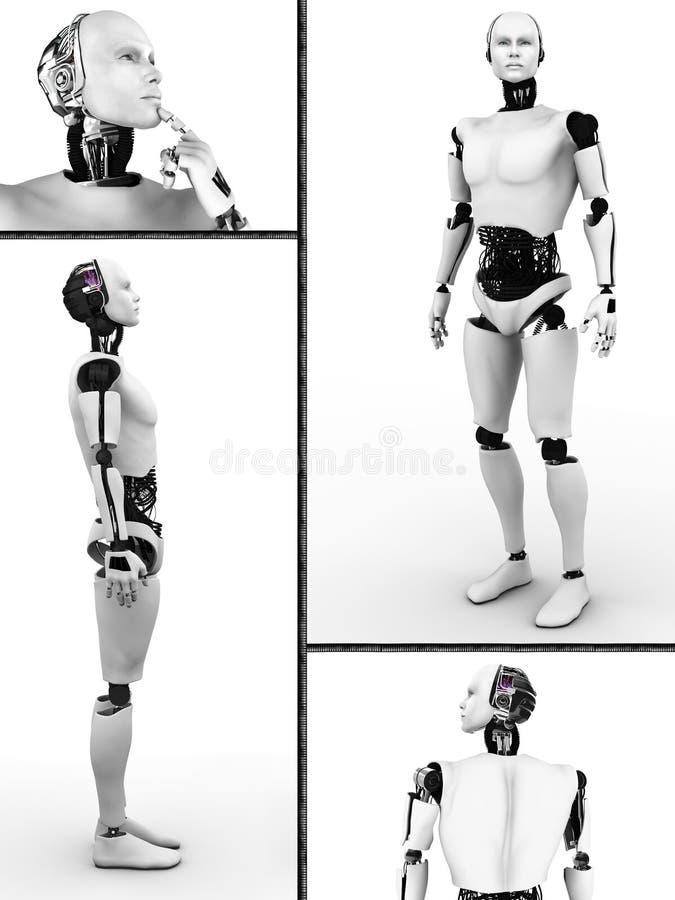 Männliche Robotercollage. vektor abbildung
