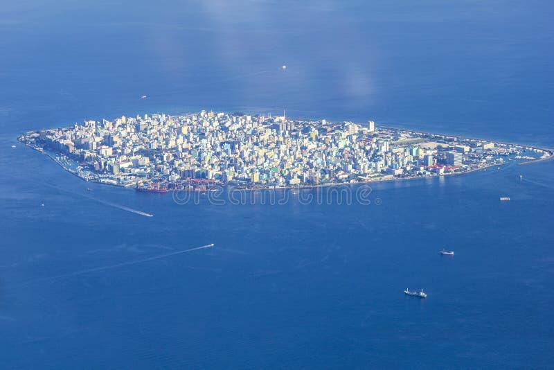 Männliche ` Stadt - Hauptstadt von Malediven stockbild