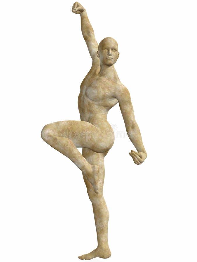Männliche Steinstatue stock abbildung