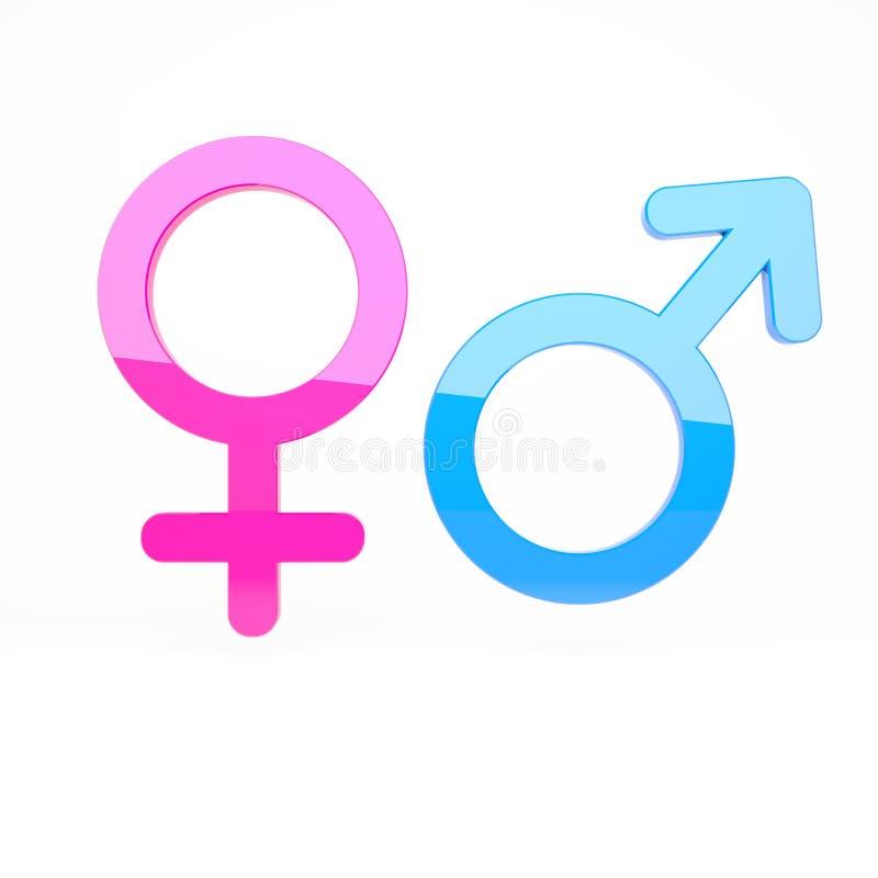 Männliche Und Weibliche Zeichen Stock Abbildung