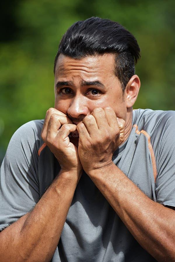 Männlicher Athlet And Fear stockbilder