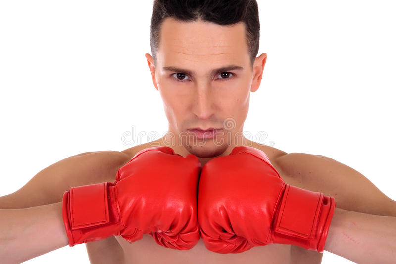Männlicher Athletenboxer lizenzfreie stockfotos
