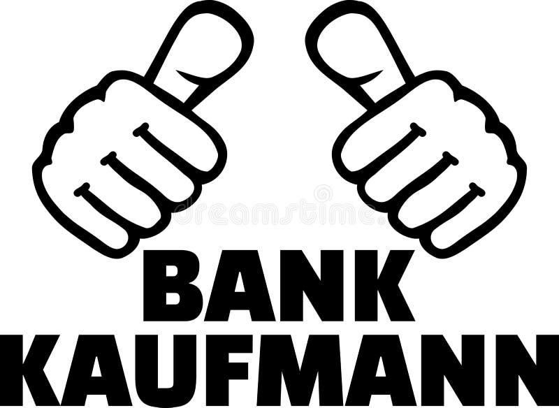 Männlicher Banker greift Deutsches ab stock abbildung
