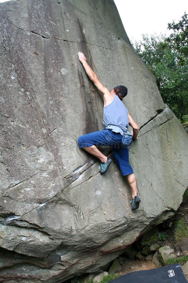 Männlicher Bergsteiger 1 lizenzfreie stockbilder
