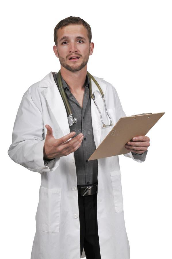 Männlicher Doktor stockbild