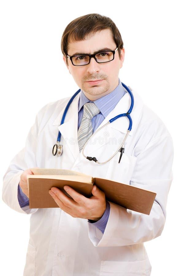 Männlicher Doktor in den Gläsern stockfotos