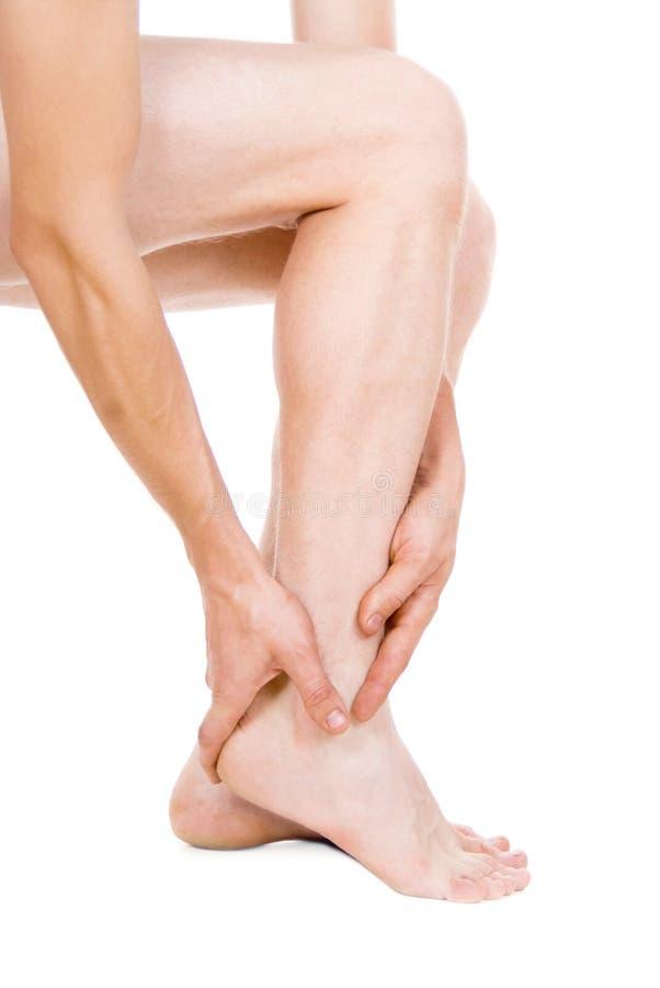 Männlicher Fuß, Ferse, Füße lizenzfreies stockfoto