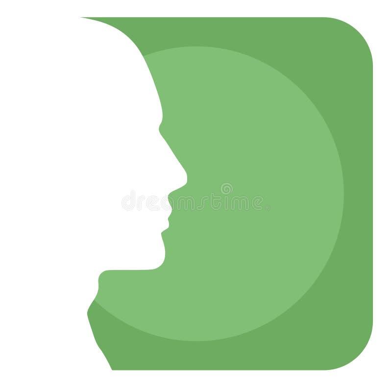 Männlicher Hauptprofil-Hintergrund stock abbildung
