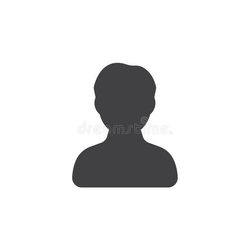 Männlicher Ikonenvektor des Benutzerkontos stock abbildung