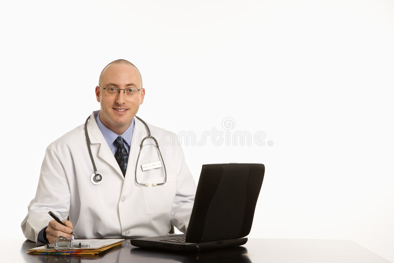Männlicher kaukasischer Doktor. lizenzfreie stockfotos