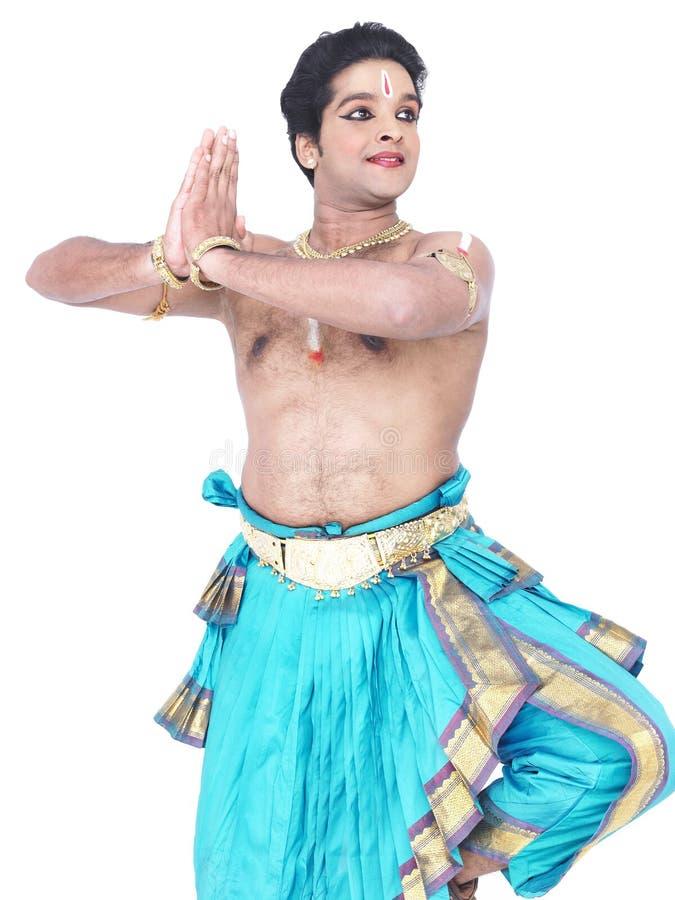 Männlicher klassischer Tänzer von Asien stockbilder