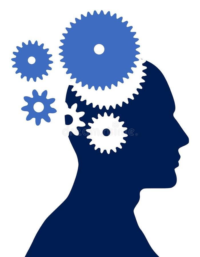 Männlicher Kopf mit Gängen vektor abbildung