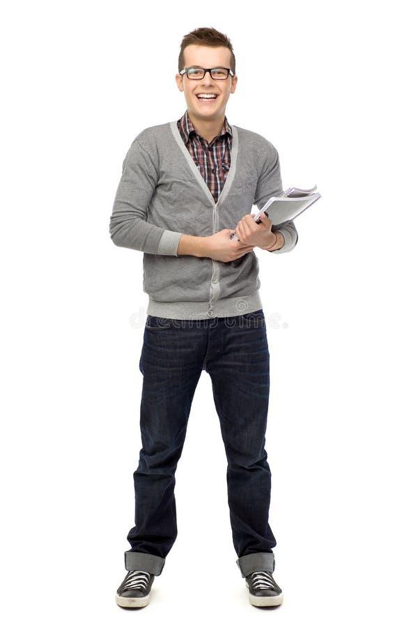 Männlicher Kursteilnehmer stockfoto