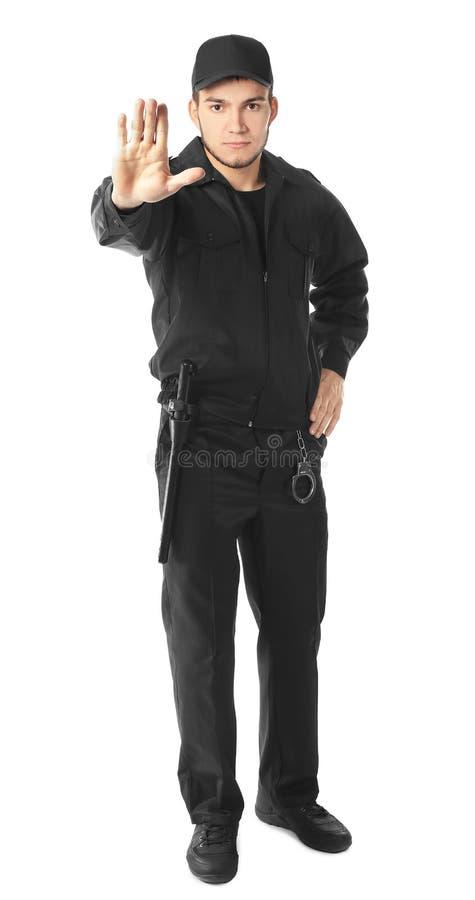 Männlicher Sicherheitsbeamte stockfotografie