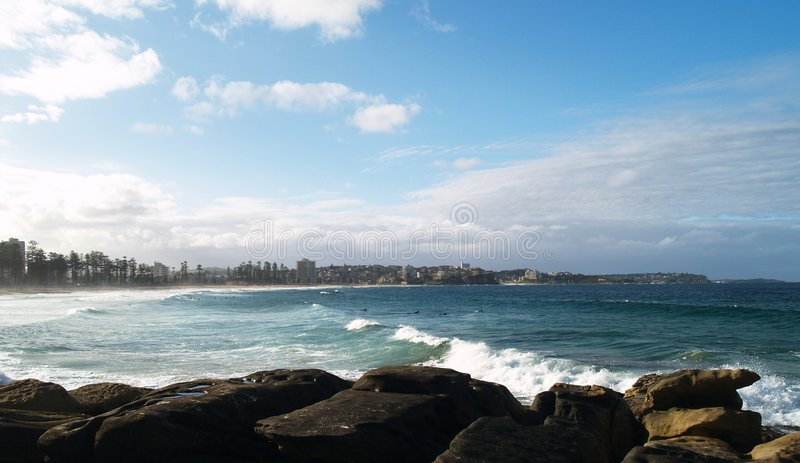 Männlicher Strand, Sydney, Australien stockbilder