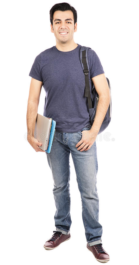 Männlicher Student lizenzfreies stockfoto