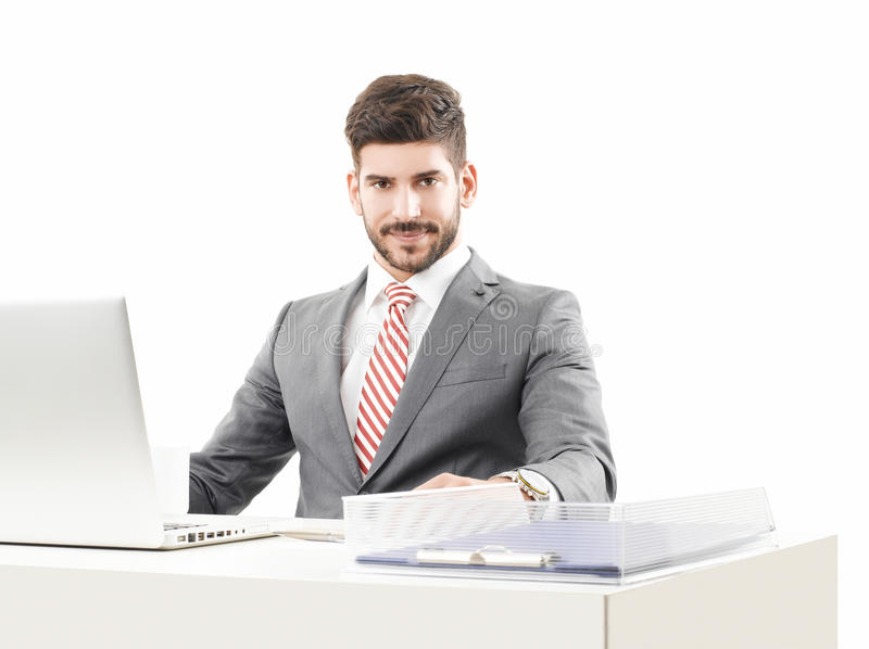Männliches Baumuster im Anzug lizenzfreies stockbild