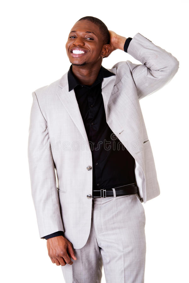 Männliches hübsches busnessman Lächeln. lizenzfreie stockbilder