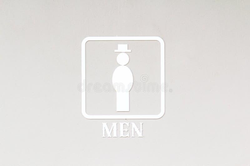 Männliches Toilettenzeichen stockfotografie