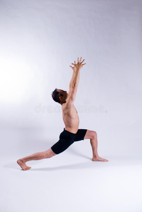 Männliches Yogabaumuster lizenzfreies stockfoto