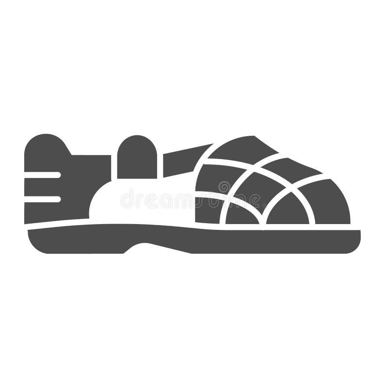 Mäns fast symbol för sandal Manlig illustration för sommarskovektor som isoleras på vit Manlig design för skodonskårastil vektor illustrationer