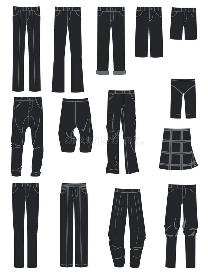 Download Mäns flåsanden vektor illustrationer. Illustration av kilt - 27281952