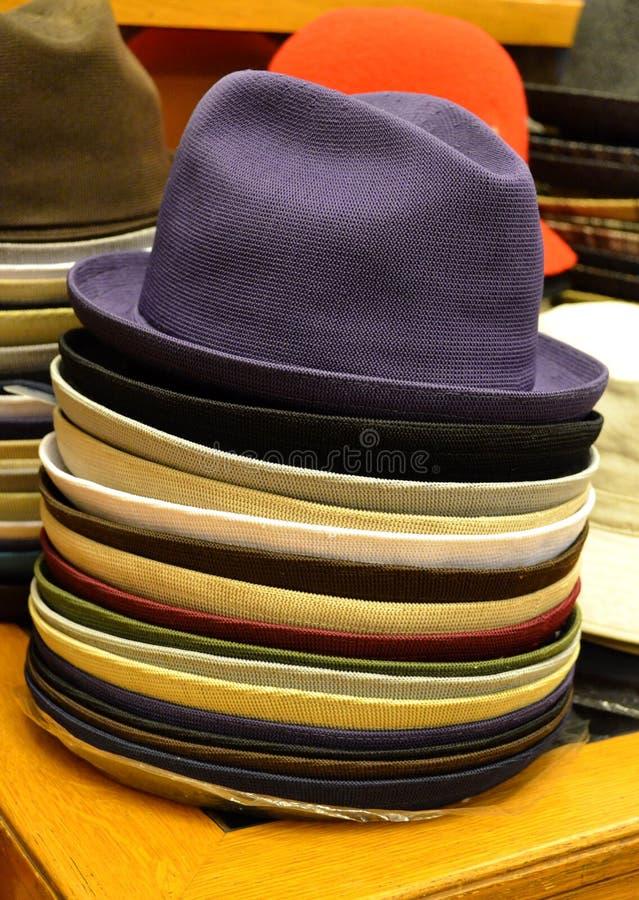 Mäns hattar fotografering för bildbyråer