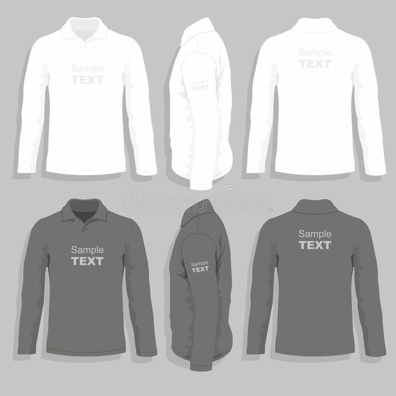 Mäns mall för t-skjorta design stock illustrationer