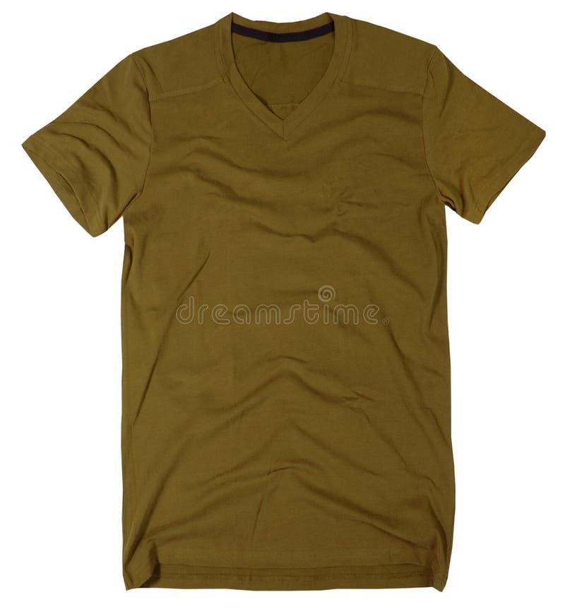 Mäns t-skjorta som isoleras på vit bakgrund. royaltyfri fotografi
